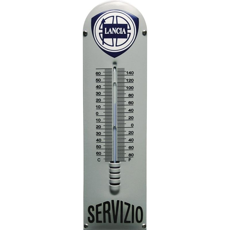 Emaille Thermometer mit Lancia logo