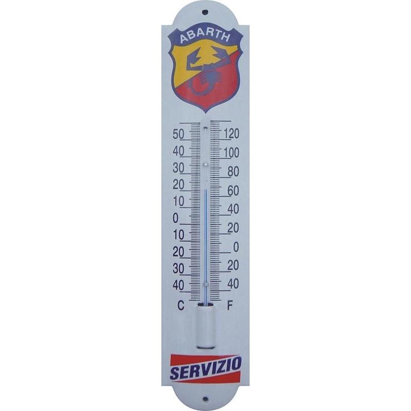 Thermometer mit Abarth Servizio logo