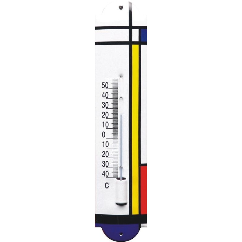 Emaille Thermometer mit Color Design logo
