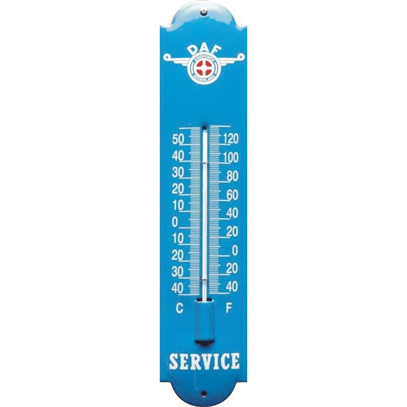Emaille Thermometer mit DAF logo