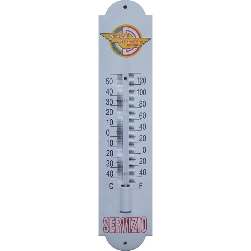 Emaille Thermometer mit Logo Ducati