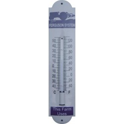 Emaille Thermometer mit Ferguson System Logo