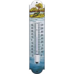 Frog Design Emaille Thermometer