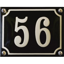 Emaille Hausnummer Niederländisch 13x10cm, gewölbt
