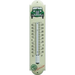MG Grün Emaille Thermometer 6,5x30cm