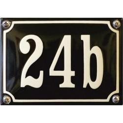 Emaille Hausnummer Niederländisch 14x10cm, gewölbt
