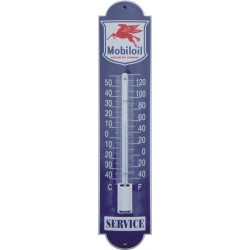Mobil Oil Emaille Thermometer 6,5x30cm