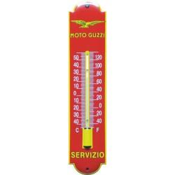 Moto Guzzi Emaille Thermometer 6,5x30cm