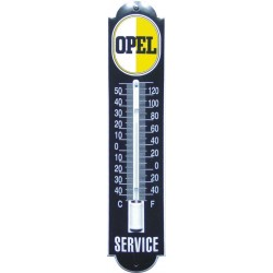 Opel Emaille Thermometer 6,5x30cm