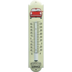 Porsche Emaille Thermometer 6,5x30cm