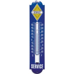 Renault Emaille Thermometer 6,5x30cm