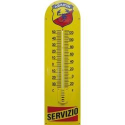 Abarth Servizio Emaille Thermometer