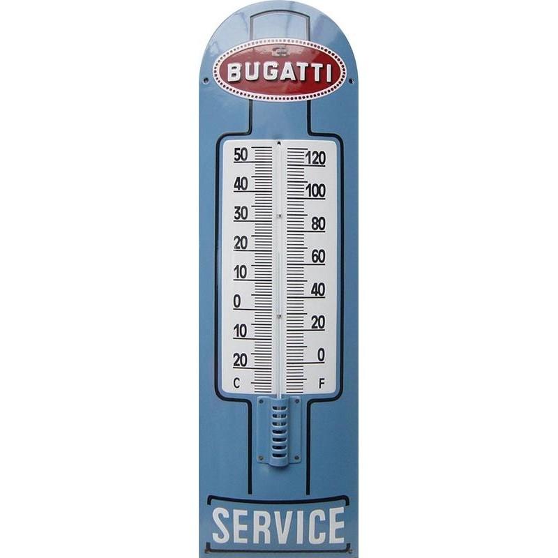 Bugatti Service Emaille Thermometer