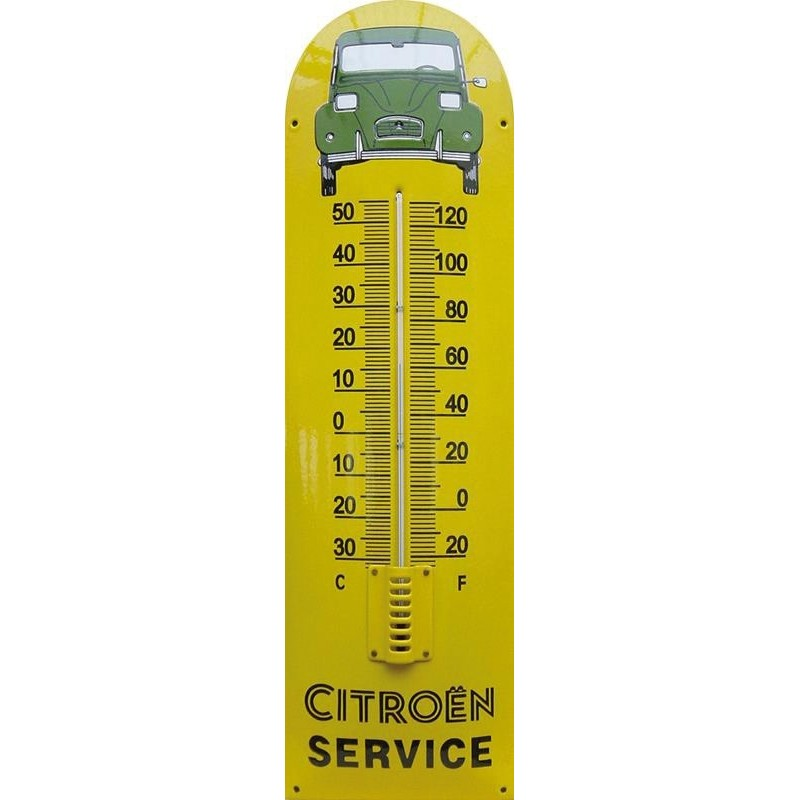 Citroen Service Auto Front Emaille Thermometer