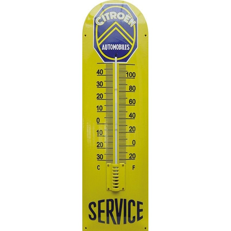 Citroen Service Emaille Thermometer