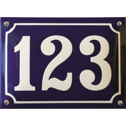 Emaille Hausnummer Niederländisch 22/24x16cm, gewölbt