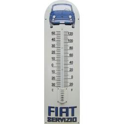 Fiat 500 Servizio Auto Front Emaille Thermometer