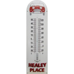 Healey Place Auto Front Emaille Thermometer