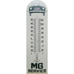 MG Service Auto Front Green Emaille Thermometer