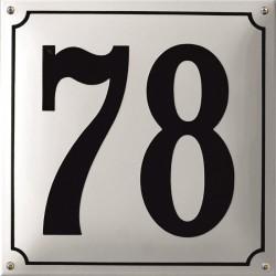 Emaille Hausnummer Niederländisch  30x30cm, gewölbt