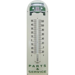Part And Service Green Auto Front Emaille Thermometer