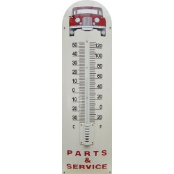 Part And Service Red Auto Front Emaille Thermometer