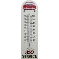 Porsche 356 Service Auto Back Emaille Thermometer