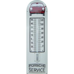 Porsche Service Auto Front Emaille Thermometer