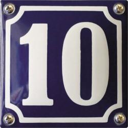 Emaille Hausnummer Pommern 10x10 cm, gewölbt