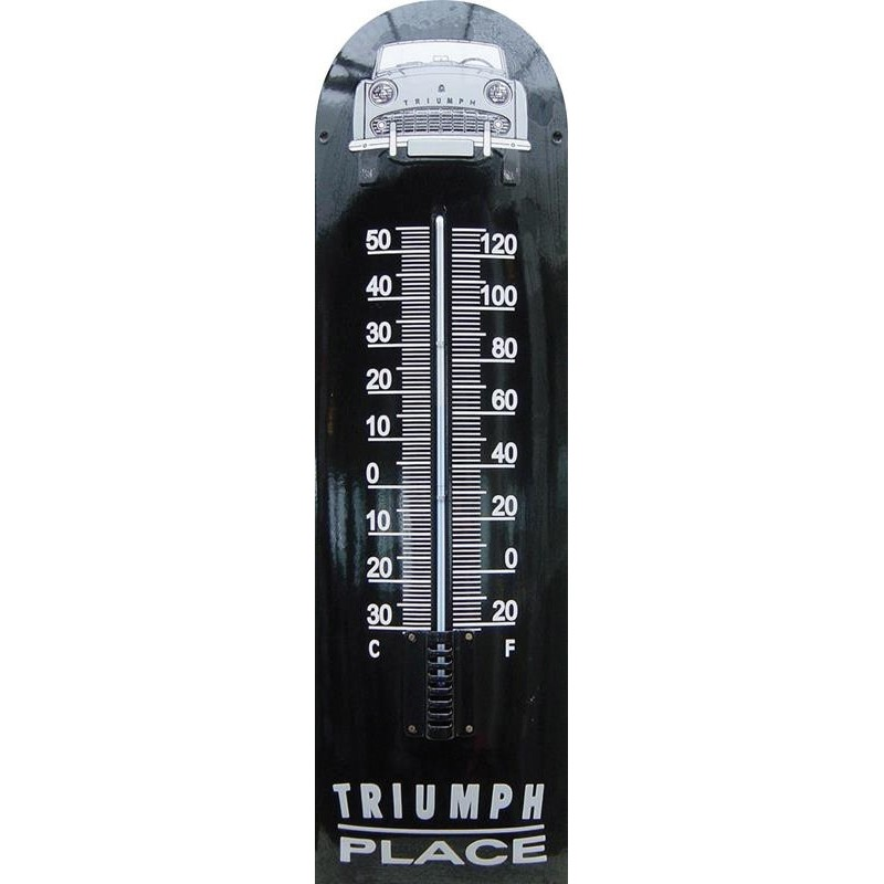 Triumph Place Auto Front Emaille Thermometer