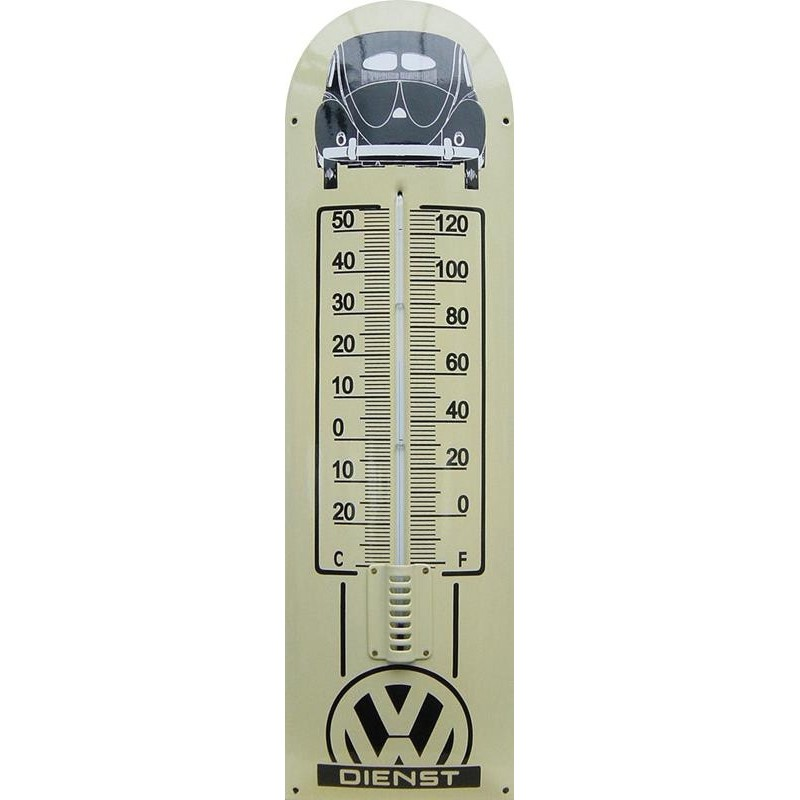 VW Dienst Auto Back Emaille Thermometer