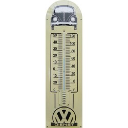 VW Dienst Auto Front Emaille Thermometer