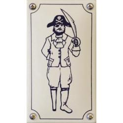 Emaille Toilettenschild Herren 8x14 cm konvex