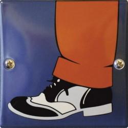 Emaille Toilettenschild Gentlemen 10x10 cm konvex