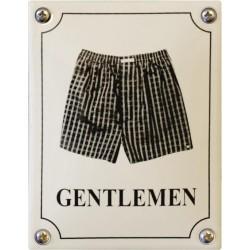 Emaille Toilettenschild Herren 10x14cm