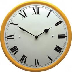 Emaille Uhr mit Römische Ziffern