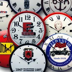 Emaille Uhr 40cm mit Logo