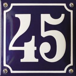 Emaille Hausnummer Pommern  16x16 cm, gewölbt
