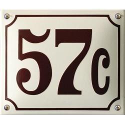 Emaille Hausnummer Pommern 19x16 cm, gewölbt