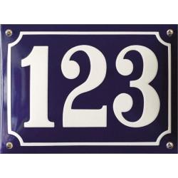 Emaille Hausnummer Pommern 22/24x16 cm, gewölbt