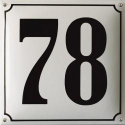 Emaille Hausnummer Pommern 30x30 cm, gewölbt