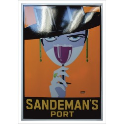 Sandeman Port Emaille Schild 69,5x100cm