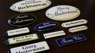 Emaille Namenschilder