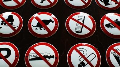 Emaille Verbotsschilder